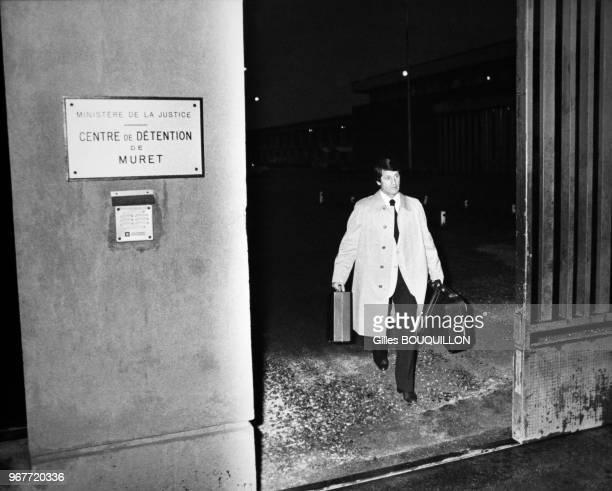 Portrait de René Vignal ancien gardien de but de l'équipe de France sortant de la maison d'arrêt où il a été détenu pendant 8 ans pour holdup le 18...