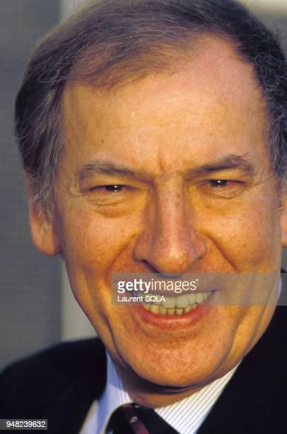 Portrait de Roger Borniche le 2 décembre 1986 à Paris France