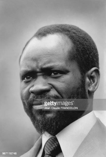Portrait de Samora Machel président du Mozambique le 22 juillet 1987 à Khartoum Soudan