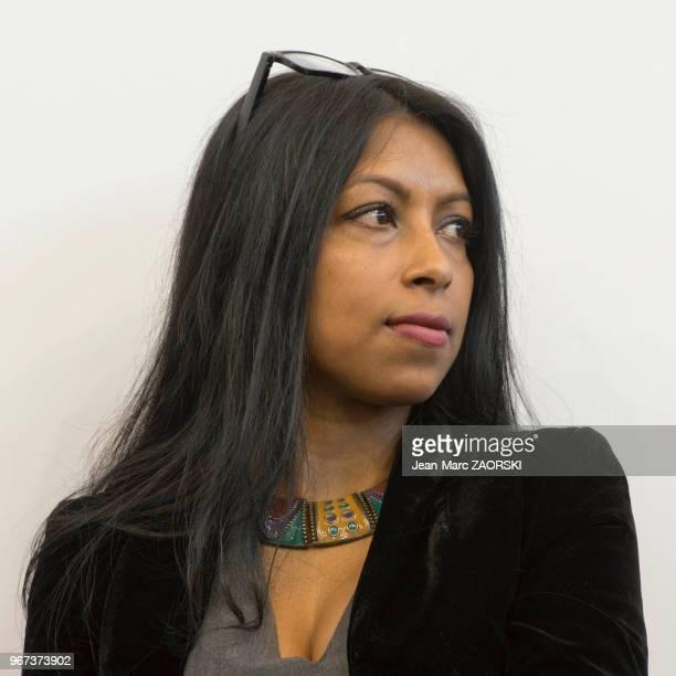 Portrait de Shumona Sinha romancière francoindienne de langue française lauréate du prix du rayonnement de la langue et de la littérature françaises...