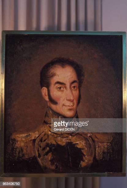 Portrait de Simon Bolivar par Almeida Crespo au musée Simon Bolivar à Caracas au Vénézuela