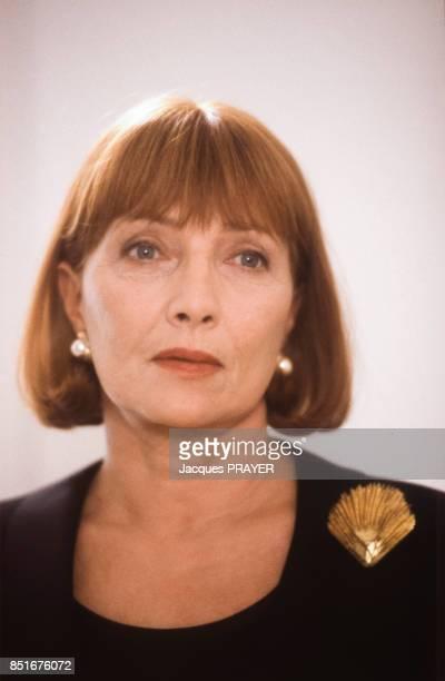 Portrait de Stéphane Audran pendant le tournage du film 'Betty' en décembre 1991 France