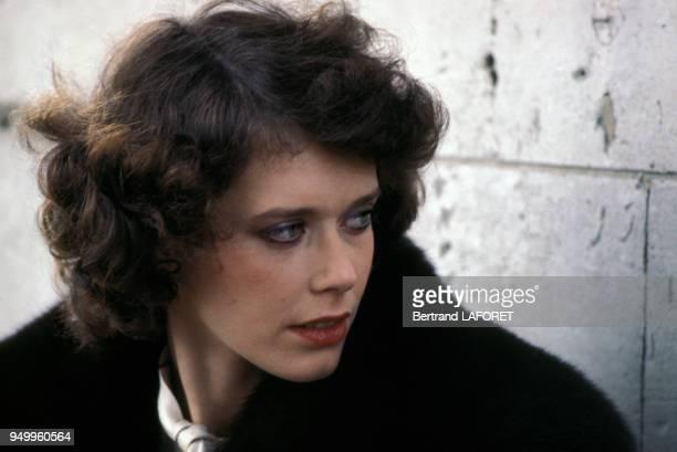 Portrait de Sylvia Kristel, circa 1980, en France.