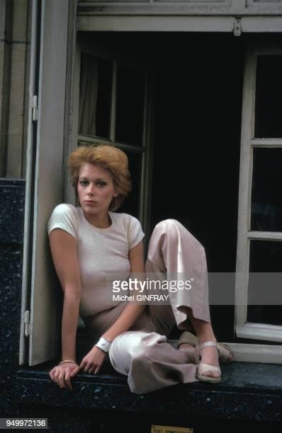 Portrait de Sylvia Kristel en mai 1974 en France.