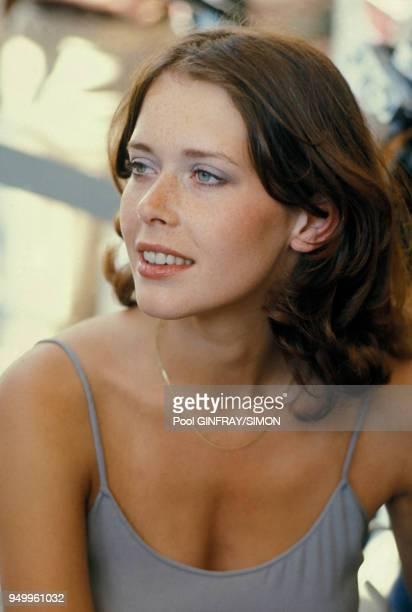 Portrait de Sylvia Kristel en mai 1976 à Cannes, France.