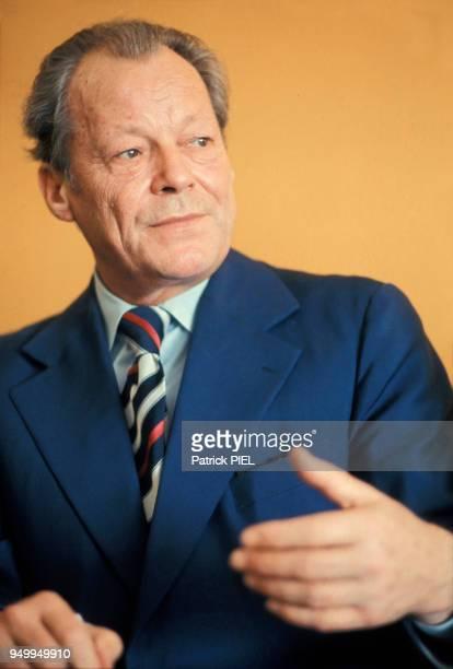 Portrait de Willy Brandt le 8 juin 1986 en Allemagne