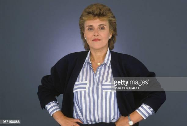 Portrait d'Edith Cresson le 22 octobre 1985 à Paris France