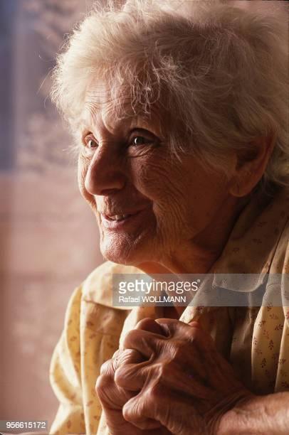 Portrait d'Emilie Schindler Juste parmi les nations et épouse d'Oskar Schindler circa 1990 Argentine