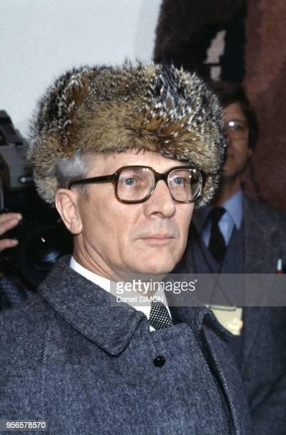 Portrait d'Erich Honecker 11 décembre 1981 BerlinEst RDA