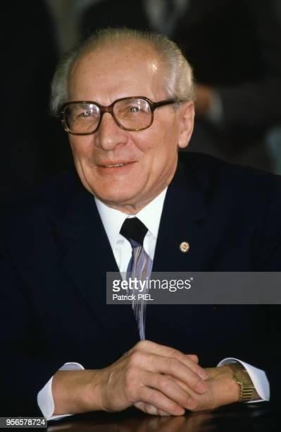 Portrait d'Erich Honecker 12 mars 1987 RDA