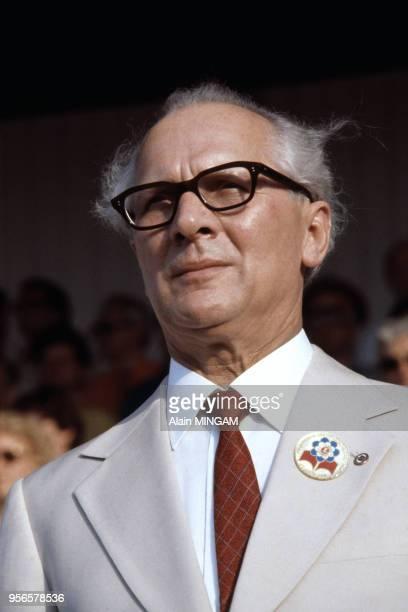 Portrait d'Erich Honecker juin 1979 BerlinEst RDA