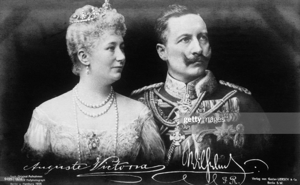 Les époux impériaux, Augusta-Victoria et Guillaume II Guillaume II : News Photo