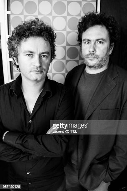 Portrait des réalisateurs Arnaud et JeanMarie Larrieu le 17 mai 2008 au Palais des des Festivals Cannes France Film 'Les derniers jours du monde'...