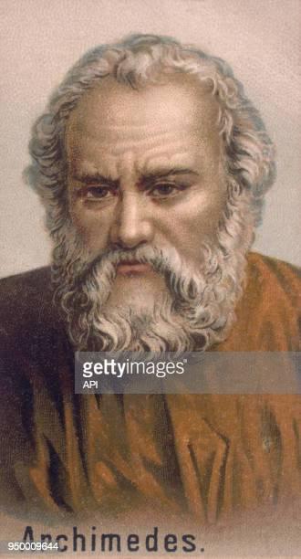 Portrait dessiné d'Archimède de Syracuse, scientifique grec de Sicile, 3ème siècle avant J.C.
