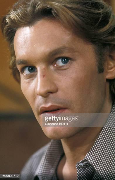Portrait d'Helmut Berger acteur circa 1970 en France