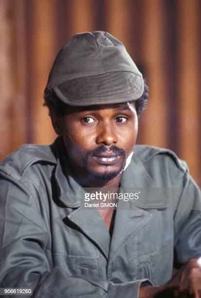 Portrait d'Hissène Habré en 1980 au Tchad.