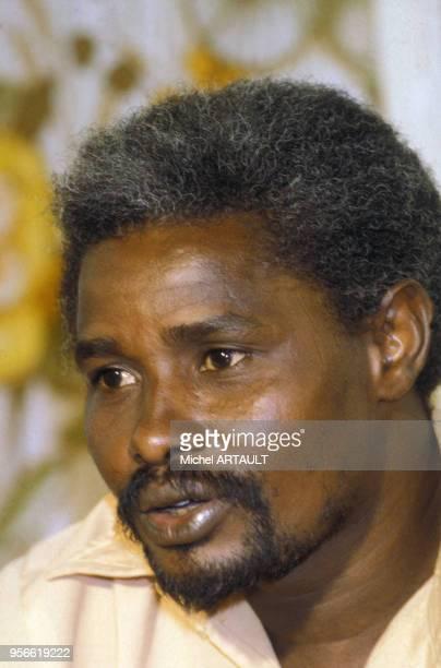 Portrait d'Hissène Habré en août 1981 au Tchad.