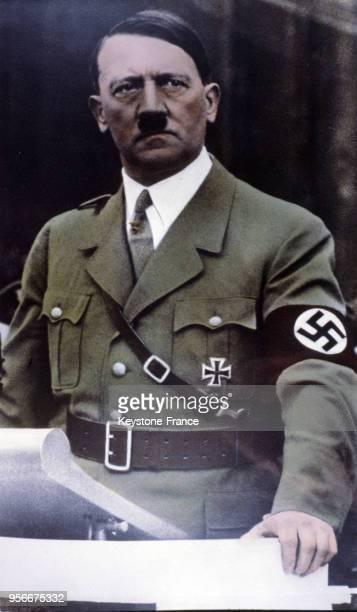 Portrait d'Hitler colorisé