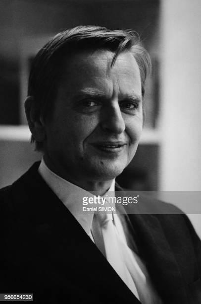Portrait d'Olaf Palme Premier Ministre suédois en septembre 1973 à Stockholm Suède
