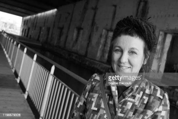 Portrait d'Olga Tokarczuk prix Nobel de litterature 2019 aux 17e rencontres litteraires internationales de Saint Nazaire 23 Novembre 2019