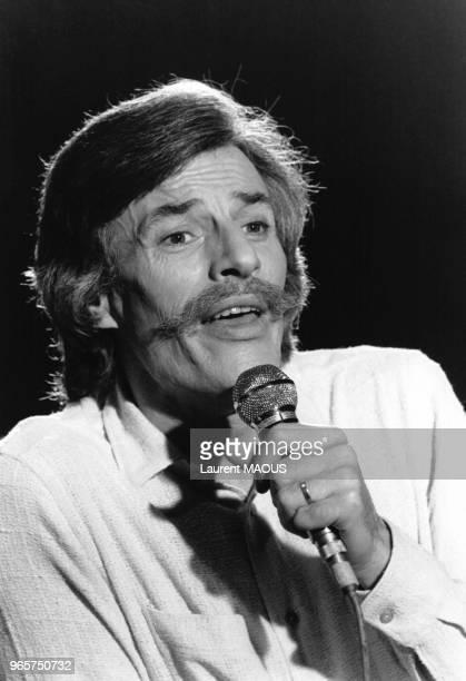 Portrait du chanteur Jean Ferrat le 15 novembre 1980 Paris France