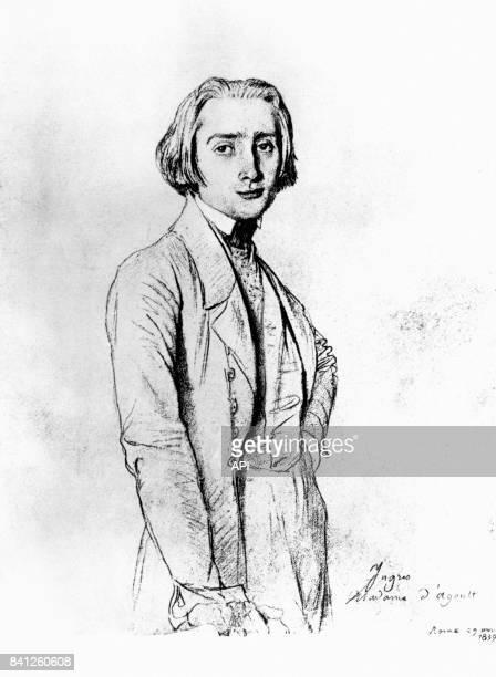 Portrait du compositeur Franz Liszt par JeanAugusteDominique Ingres