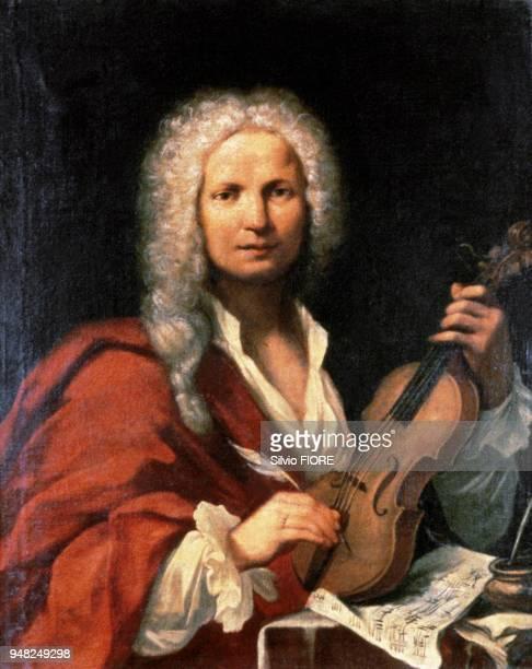 Portrait du compositeur italien Antonio VIVALDI du XVIIIème siècle Peinture de FM LA CAVE conservée au Civico Museo à Bologne Portrait du compositeur...