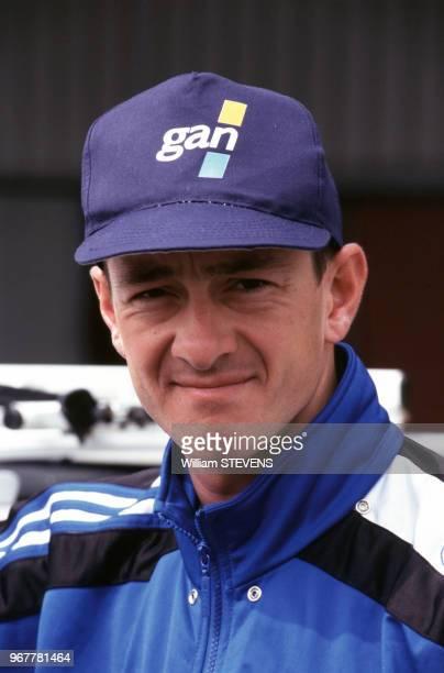 Portrait du coureur cycliste anglais Chris Boardman lors du prologue du Tour de France le 29 juin 1996 à Hertogenbosch aux Pays Bas
