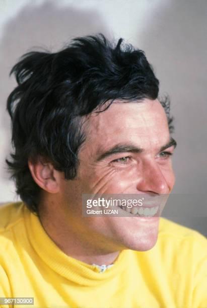 Portrait du cycliste Bernard Hinault le 22 juillet 1978 à Paris France