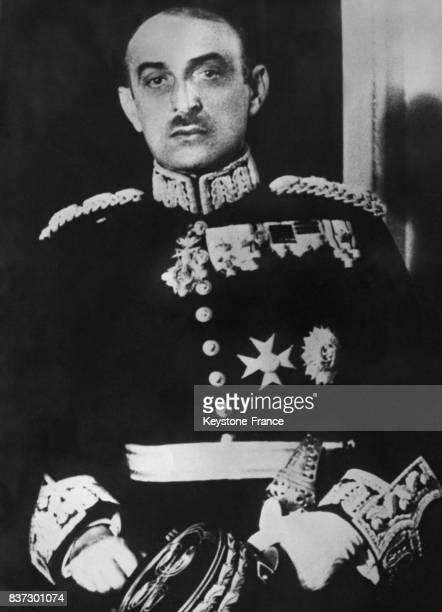 Portrait du général Alexandros Papagos commandant en chef de l'armée de terre grecque