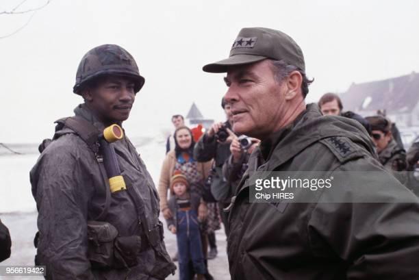Portrait du Général américain Alexander Haig lors de manoeuvres militaires en février 1979 en République Fédérale d'Allemagne