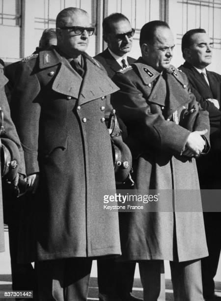 Portrait du général Georges Zoitakis nommé régent de Grèce et du colonel Georgios Papadopoulos nommé premier ministre en Grèce le 17 décembre 1967