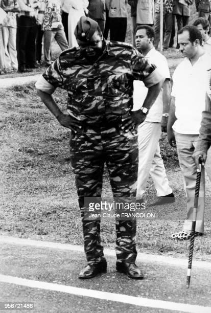 Portrait du Général Idi Amin Dada chef ougandais le 1er août 1975 à Kampala Ouganda