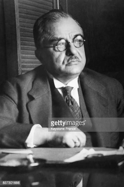 Portrait du général Ioannis Metaxas ministre de la guerre en Grèce le 9 mars 1935