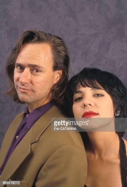 Portrait du groupe américain Cock Robin en mars 1990 France