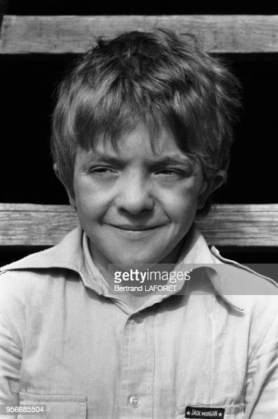 Portrait du jeune acteur suisse David Bennent le 1er octobre 1979 à Berlin Allemagne