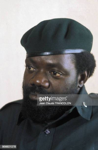 Portrait du leader indépendantiste Jonas Savimbi circa 1975 en Angola