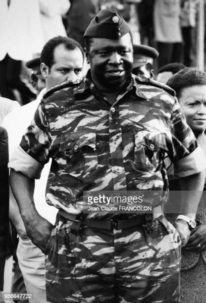 Portrait du Maréchal ougandais Idi Amin Dada lors de son mariage avec sa cinquième épouse le 1er août 1975 à Kampala Ouganda