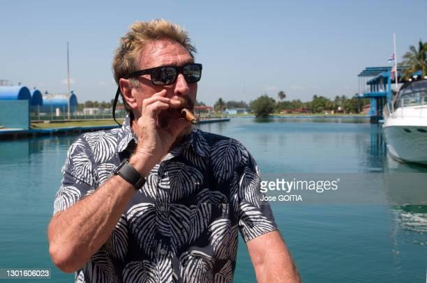 Portrait du milliardaire américain John Mc Afee créateur du logiciel antivirus du même nom le 6 juillet 2019 à la Havane, Cuba.