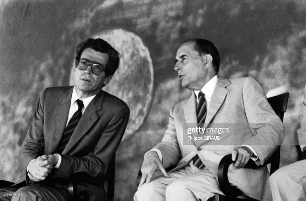 Portrait de Pierre Joxe et de François Mitterrand Pictures | Getty ...