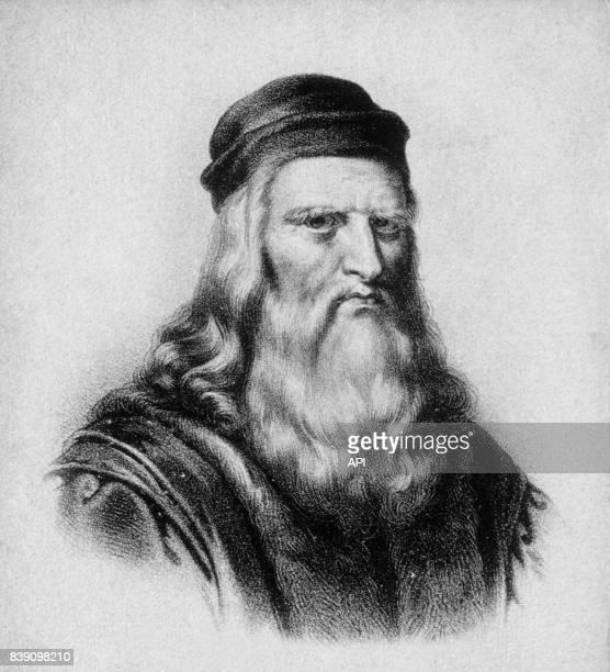 Portrait du peintre italien Léonard de Vinci