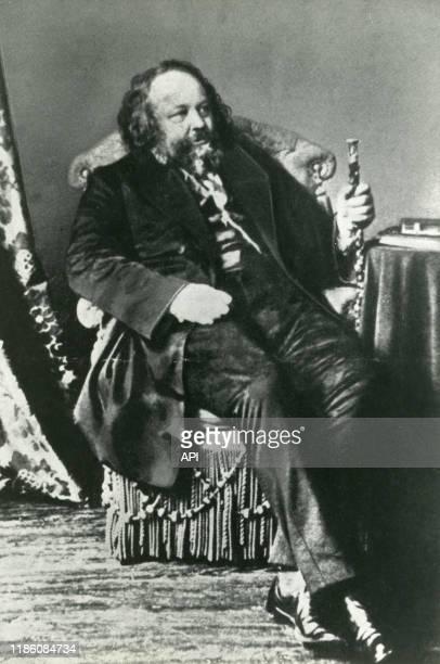Portrait du philosophe russe Mikhaïl Bakounine.