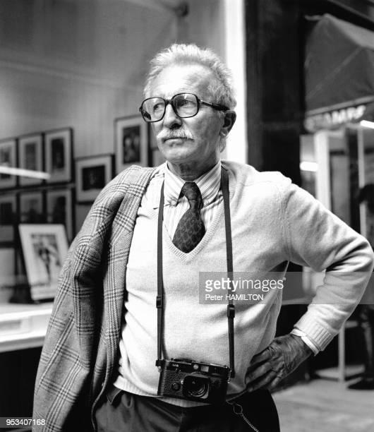 Portrait du photographe français JeanPhilippe Charbonnier à Londres en septembre 1990 RoyaumeUni