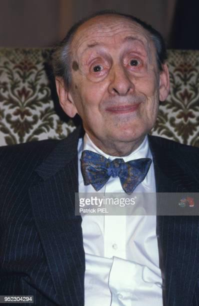 Portrait du pianiste Vladimir Horowitz en mai 1986 à Hambourg, Allemagne.