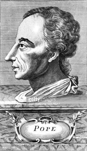 Portrait du poète anglais Alexander Pope