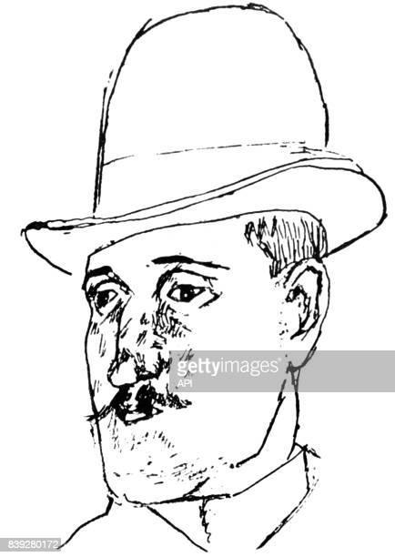 Portrait du poète français Guillaume Apollinaire réalisé par Max Jacob