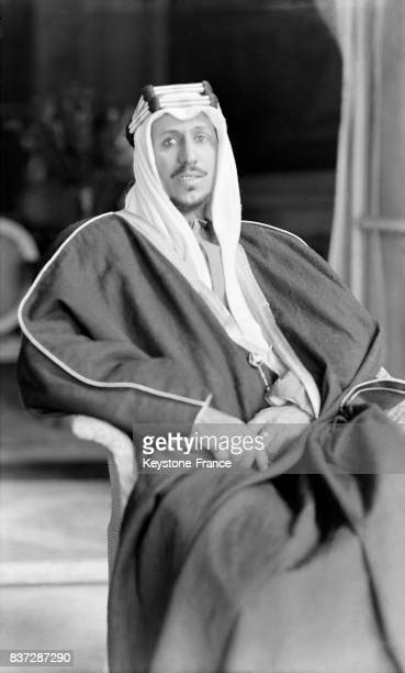 Portrait du prince héritier Ibn Saoud du Hedjaz aka Saoud ben Abdelaziz Al Saoud en Arabie Saoudite en 1930
