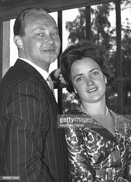 Portrait du Prince WelfHenri de Hanovre et de son epouse la princesse SophieAlexandra de Ysenburg le 17 septembre 1960 a Budingen Allemagne