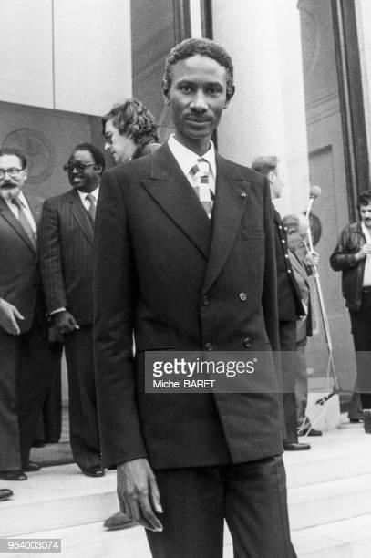 Portrait du président de la République du Sénégal Abdou Diouf au palais de l'Elysée à Paris le 3 septembre 1981