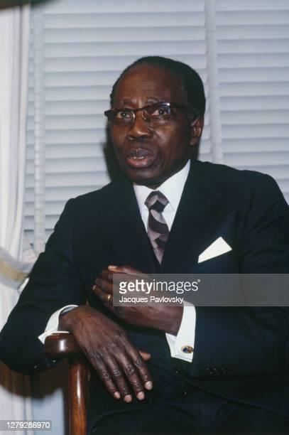 Portrait du président de la République du Sénégal : Leopold Sedar Senghor.